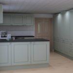 Landhausküche in Farbe